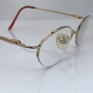 Nine West Women Eyeglasses Frame Gold Tone Metal
